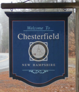 Chesterfield town sign